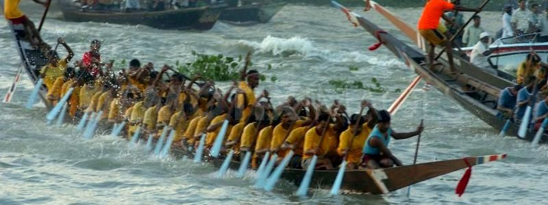 Traditional Boat Race in Bangladesh