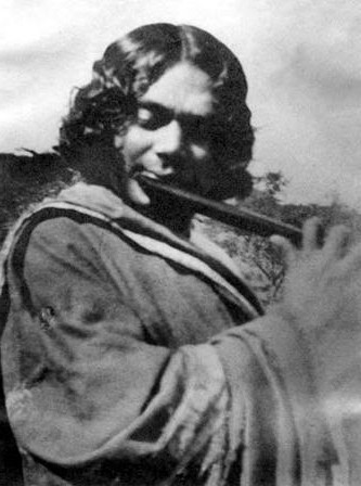 Nazrul with Flute Archival Image